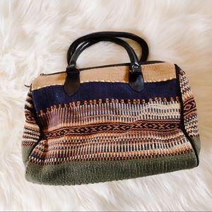 Vintage Kilm like Satchel Handbag Purse